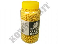 2000 x 6mm x 12g Yellow Polished Airsoft BB Gun Pellets in Tub